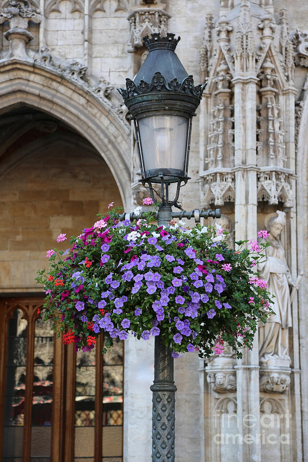 Belgium Photograph - Lamp And Lace At The Grand Place by Carol Groenen