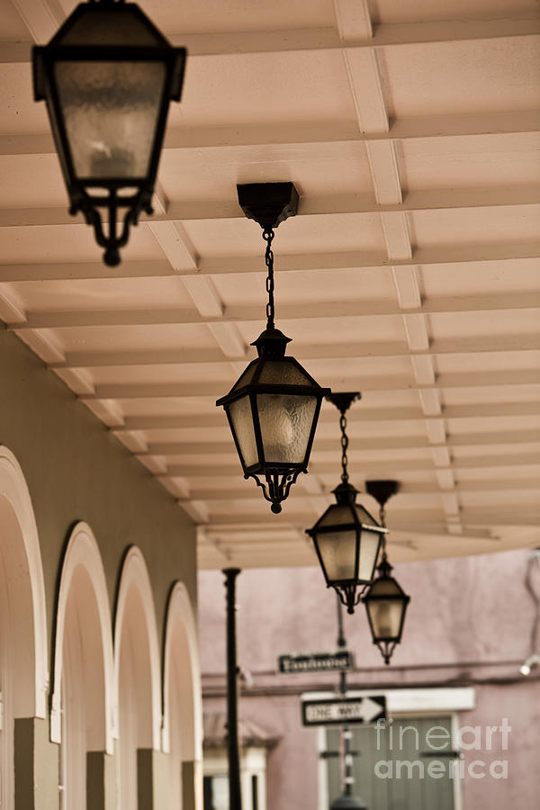 New Orleans Photograph - Lamps by Leslie Leda