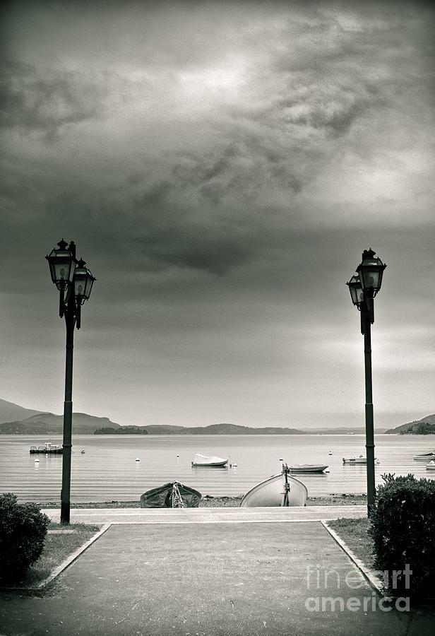 Italy Photograph - Lamps On Lake by Silvia Ganora