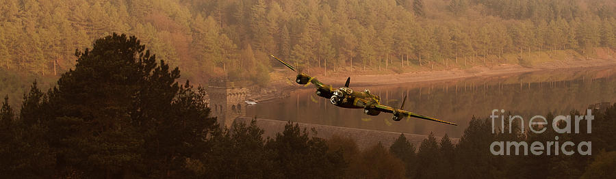 Dambusters Photograph - Lancaster Over The Dams by Nigel Hatton