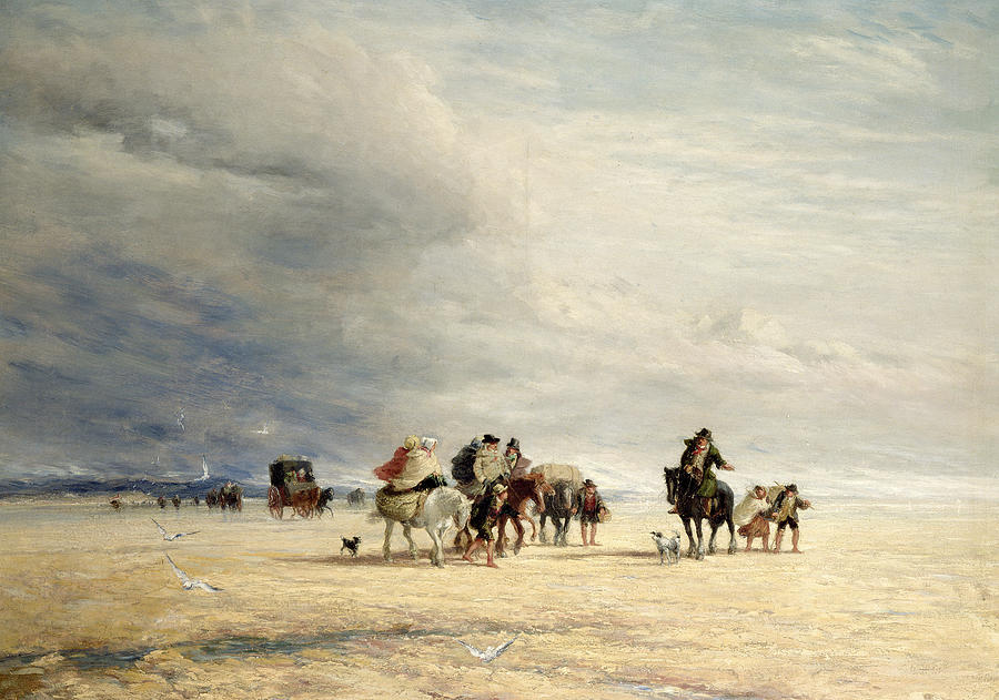 David Painting - Lancaster Sands by David Cox