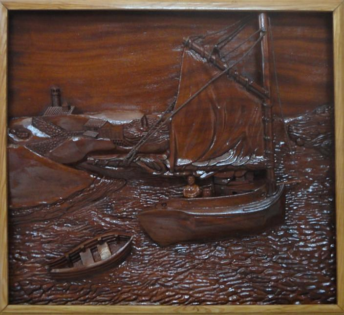 Land Scape Relief - Land Scape by Indian Wooden Craft