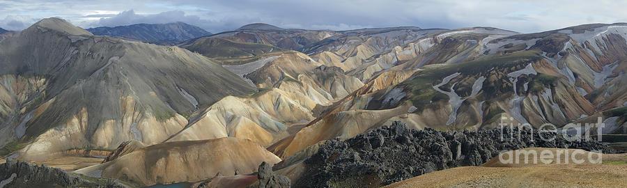 Landscape Photograph - Landmannalaugar Panorama 1 by Rudi Prott