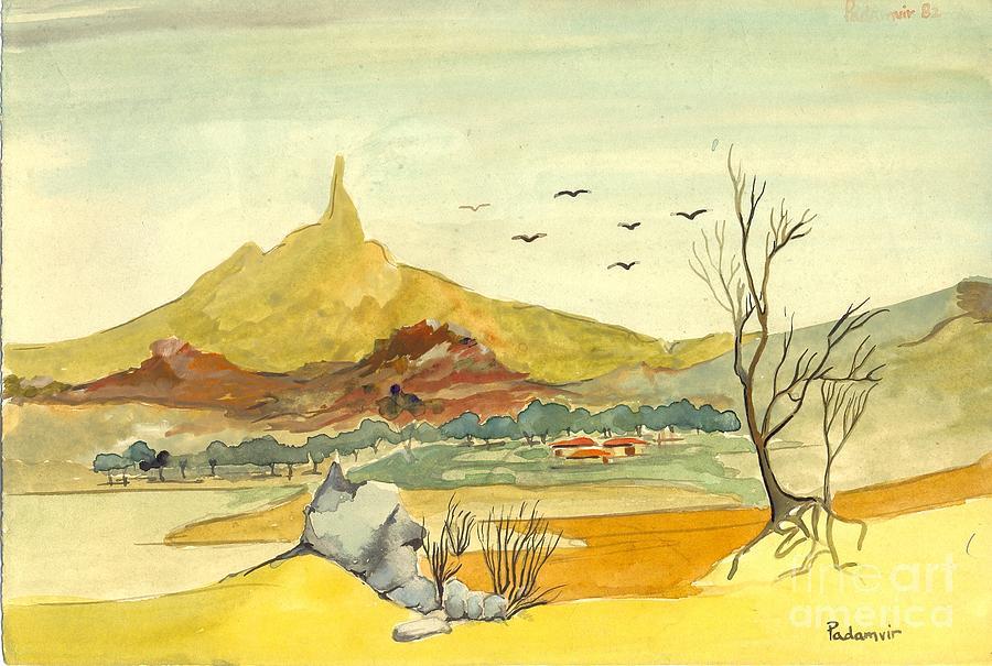 Landscape Painting - Landscape 4 by Padamvir Singh