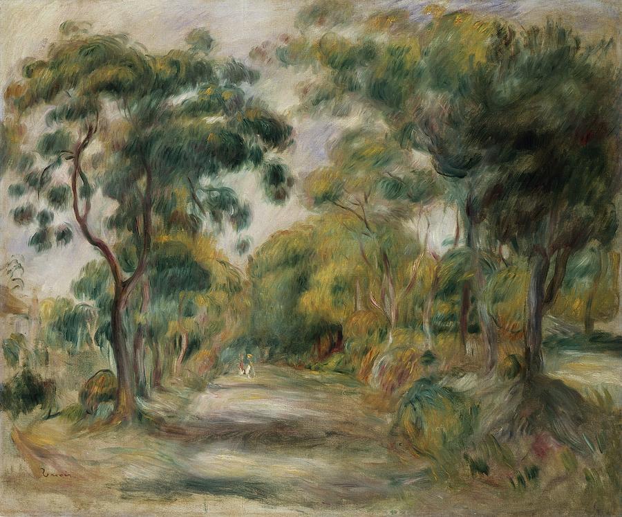 Pierre Auguste Renoir Painting - Landscape At Noon by  Pierre Auguste Renoir
