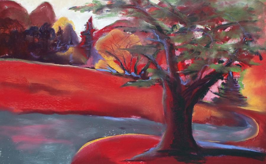 Pastel Painting - Landscape Fun by Marie-Claire Dole