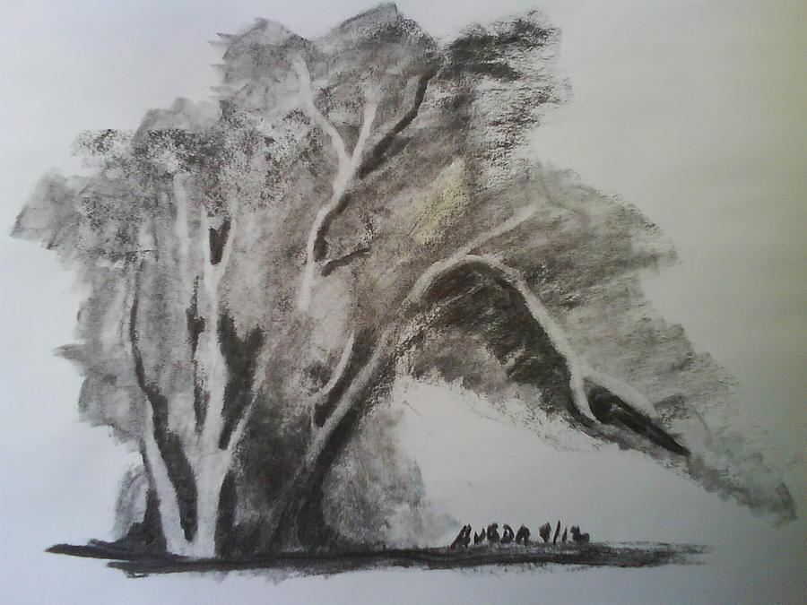 Landscape Drawing - Landscape I by Aveda Allen