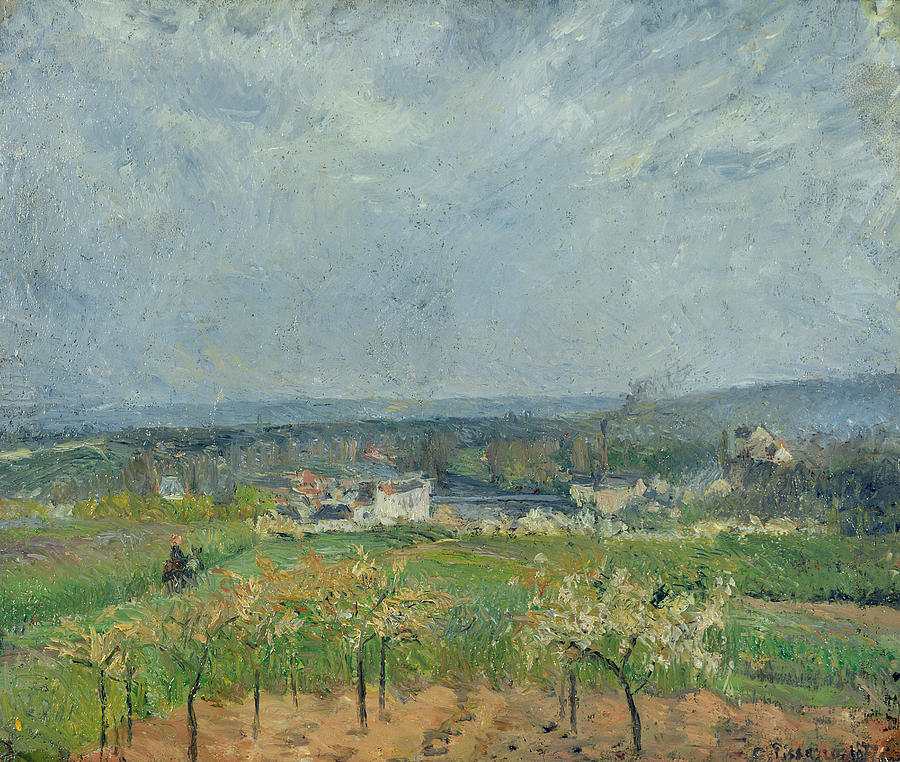Camille Painting - Landscape In Pontoise by Camille Pissarro