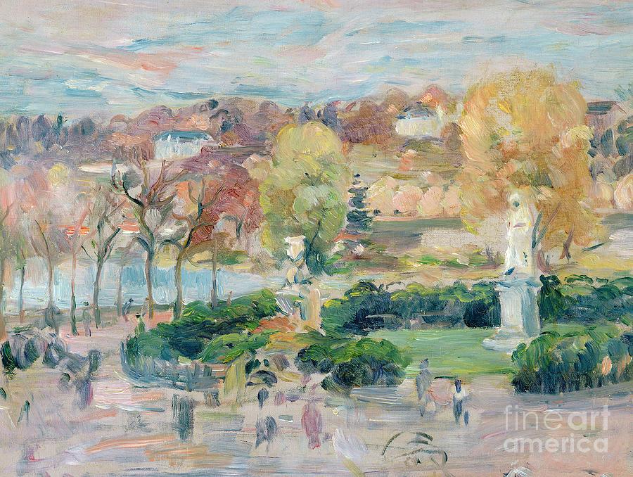Autumn Painting - Landscape In Tours by Berthe Morisot
