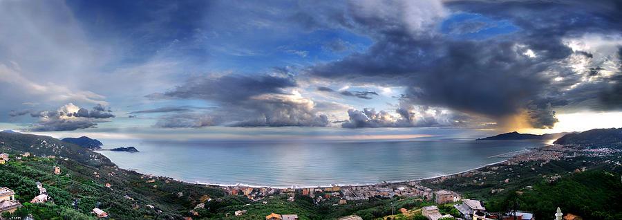 Landscape Photograph - Landscape of Tigullio bay by Andrea Gabrieli