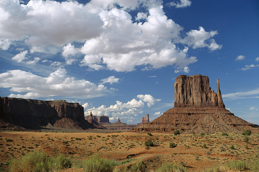 Landscape View Monument Valley Navajo Photograph by Tim Fitzharris