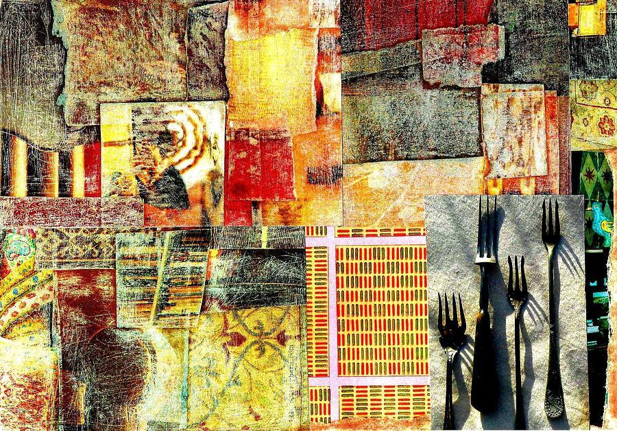 Landscape With Forks Digital Art by Jann Sage