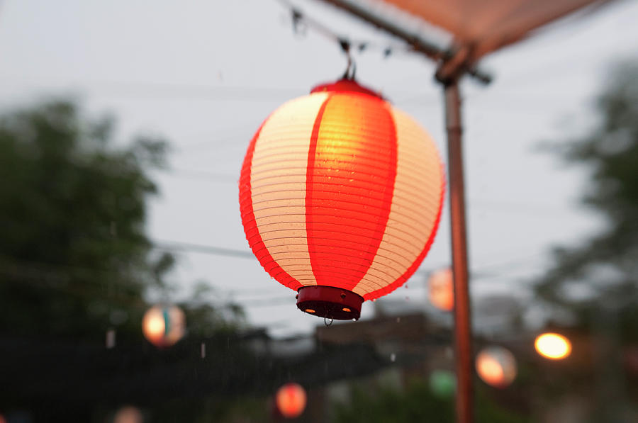 Horizontal Photograph - Lantern At Ginza Festival by Seeing Is Believing.