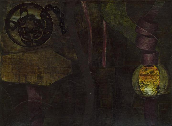 Dark Painting - Lantern Twist by Alexandra Sheldon