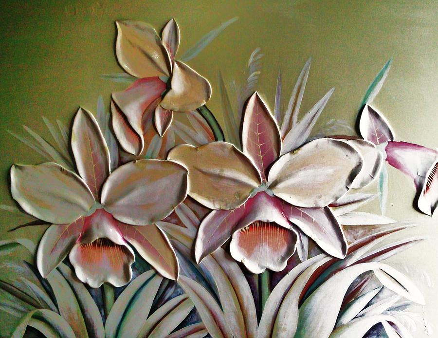 Large 3d Flowers Mixed Media By Unique Consignment