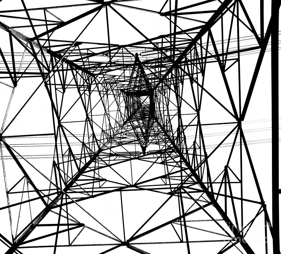 High Photograph - Large Electricity Powermast by Yali Shi