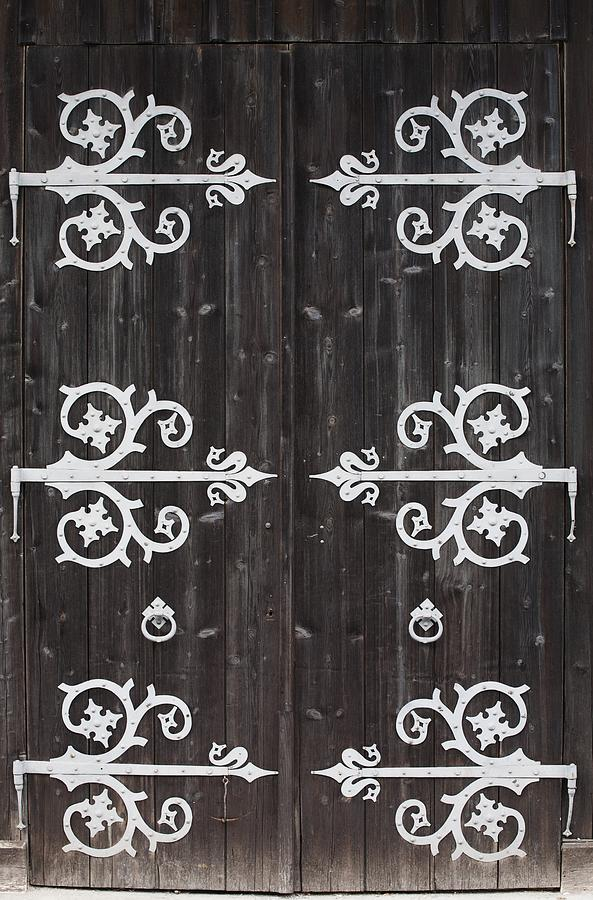 building photograph large metal decorative hinges on a by michael interisano - Decorative Hinges