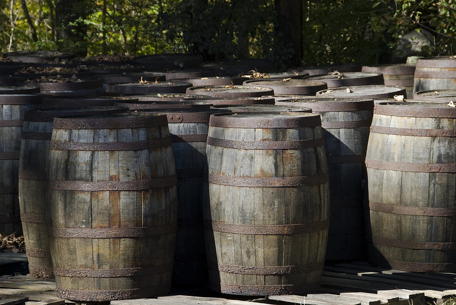 Large Wooden Barrels Used To Store By Todd Gipstein