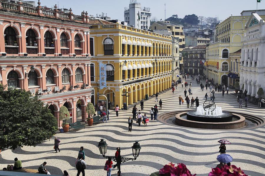 Horizontal Photograph - Largo Do Senado (senado Square) by Manfred Gottschalk