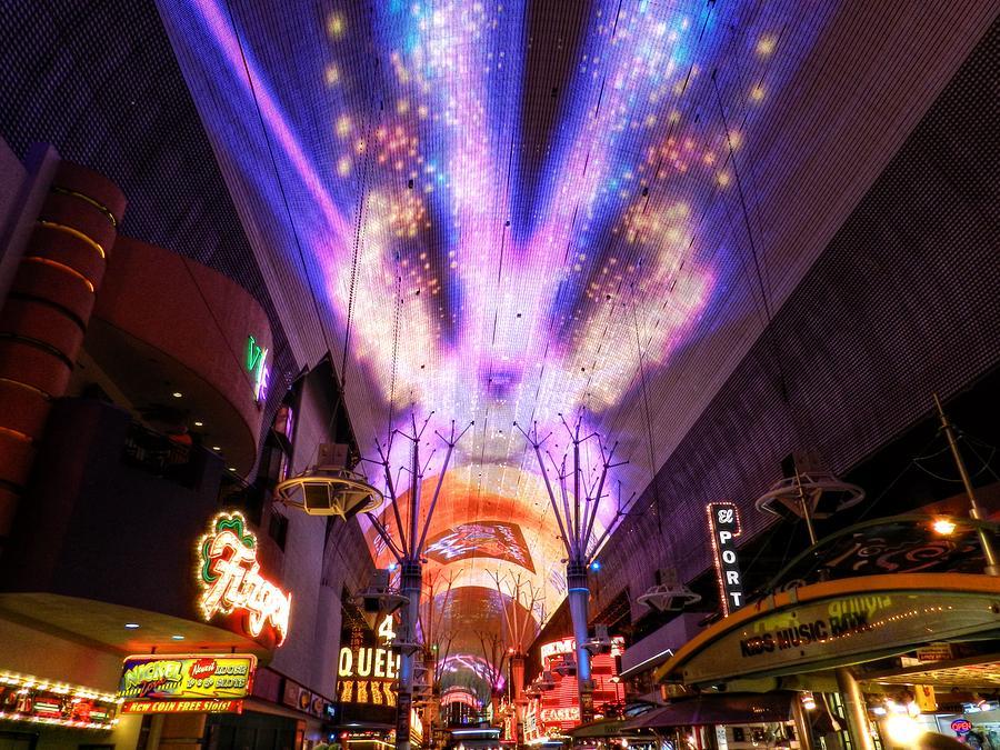 Fremont Street Experience Photograph - Las Vegas 062 by Lance Vaughn