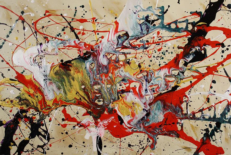 Abstract Painting - Lassoed A Tornado by Nan Bilden