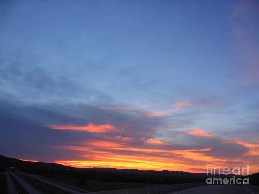 Sunset Photograph - Last Flame by Mark Robbins