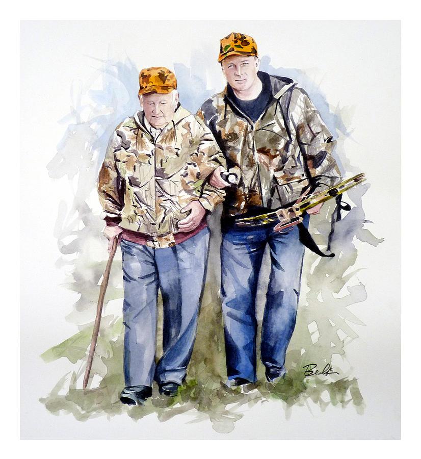 Pa Game News Painting - Last Hunt by Dana  Bellis