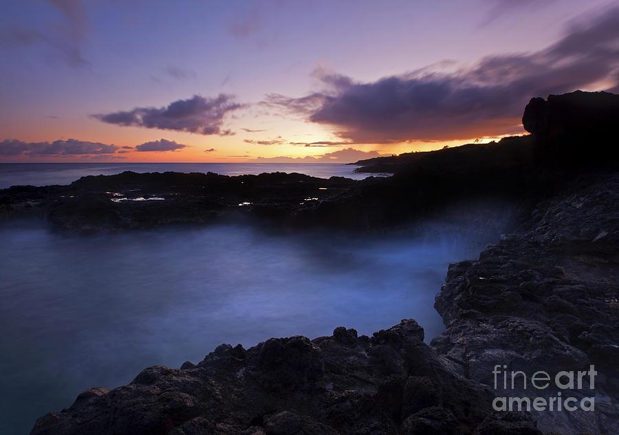 Kauai Photograph - Last Light Over The South Shore by Mike  Dawson
