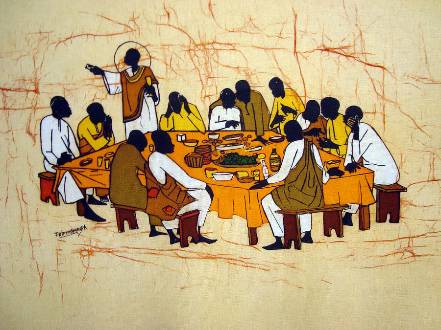 Last Supper Tapestry - Textile - Last Supper by Joseph Kalinda