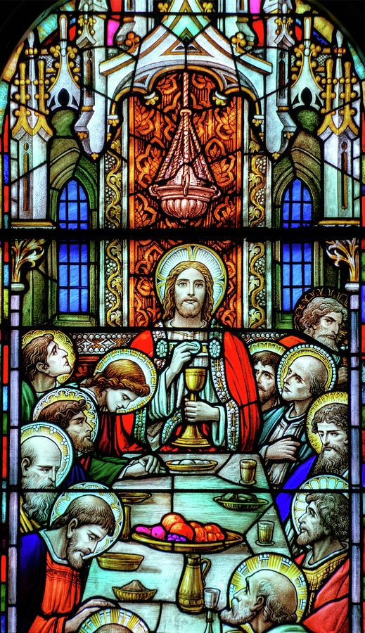 Stained Glass Photograph - Last Supper Stained Glass by Matthew Green