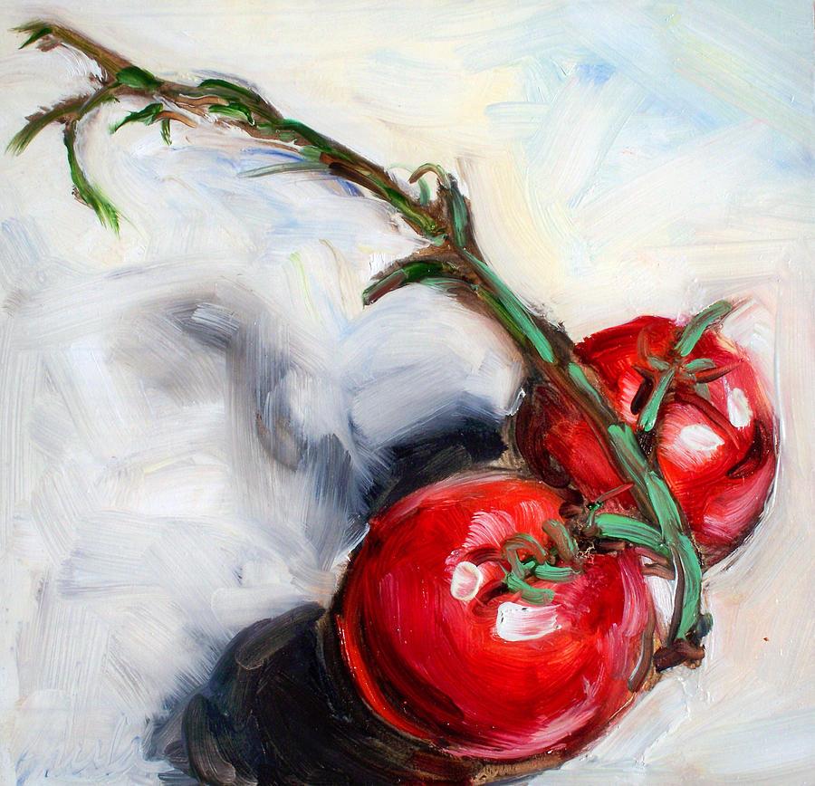 Tomato Painting - Last Two by Sheila Tajima
