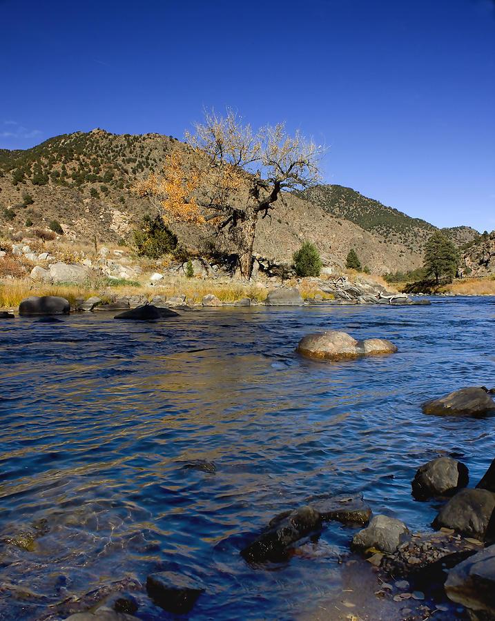 River Photograph - Late Autumn At The Arkansas by Ellen Heaverlo
