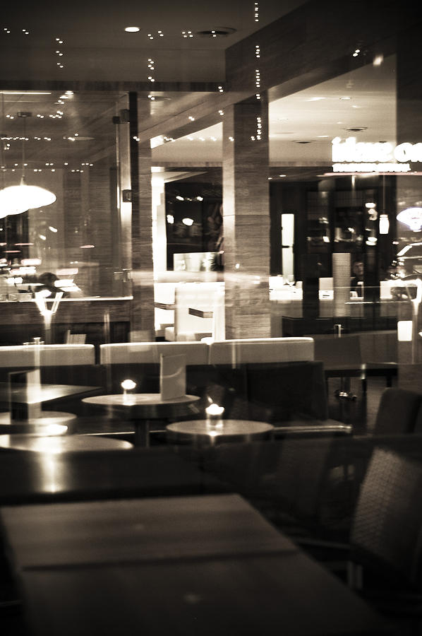 Restaurant Photograph - Late Dining by Marina Garrison