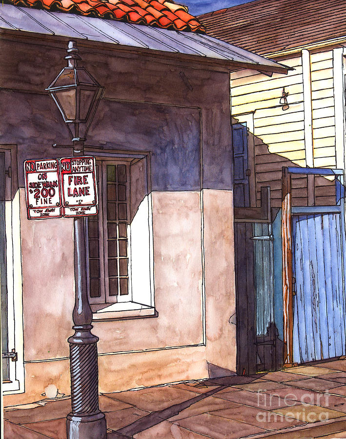 French Quarter Painting - Late Evening Shadow by John Boles