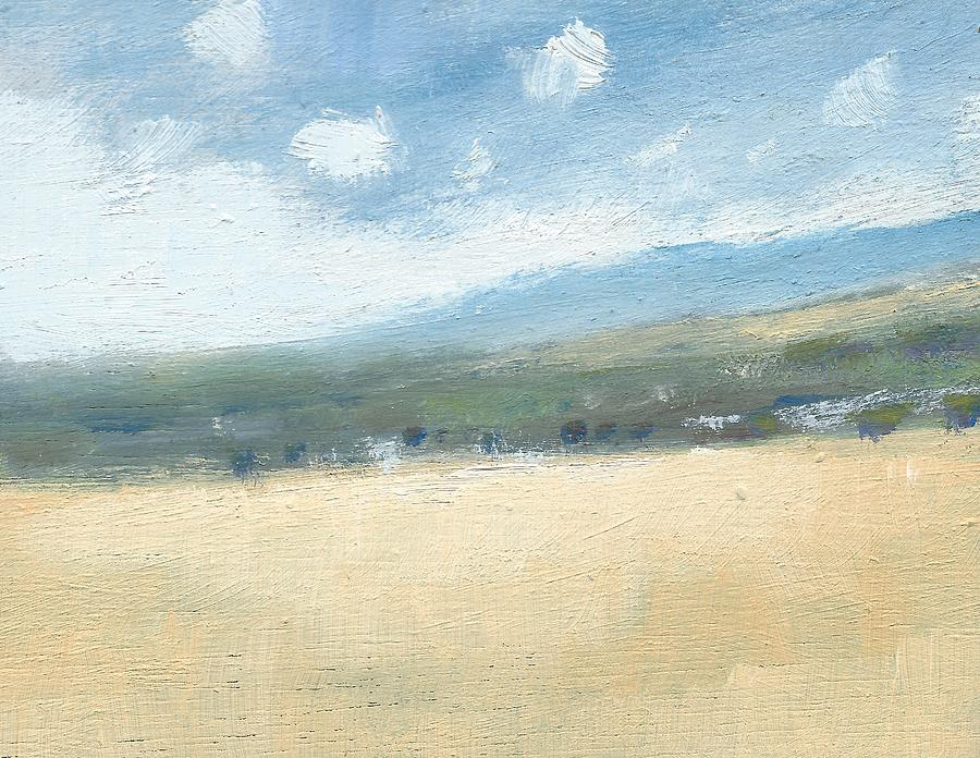Landscape Painting Painting - Late Summer Cornfields by Alan Daysh