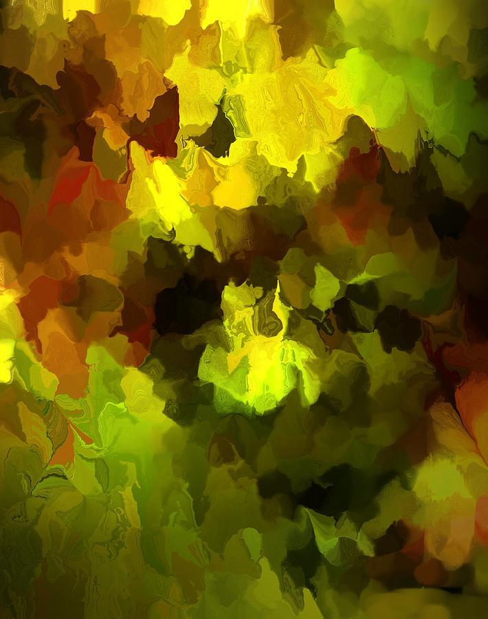 Abstract Digital Art - Late Summer Nature Abstract by David Lane