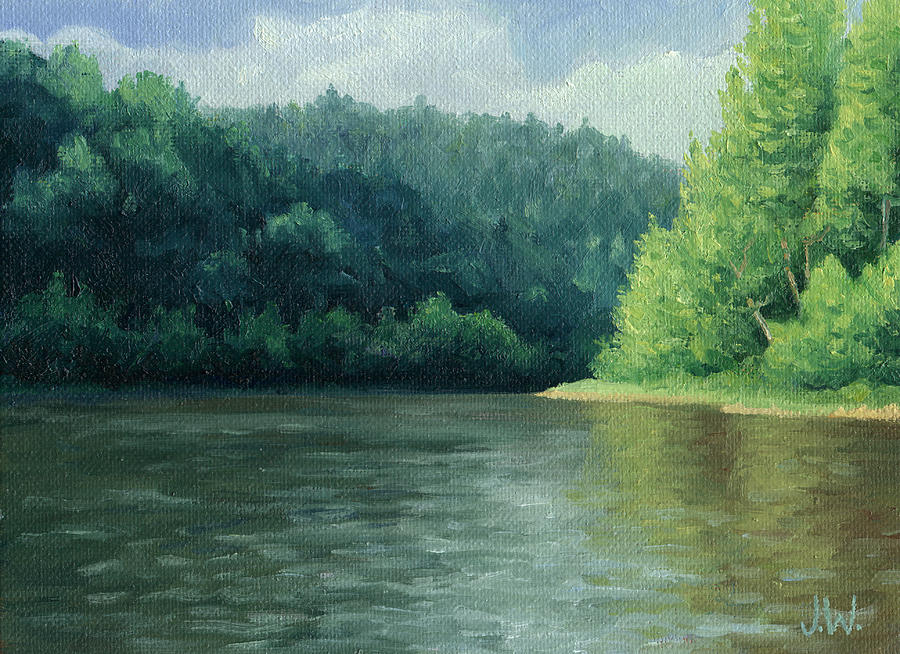 Trees Painting - Later That Day by Joe Winkler