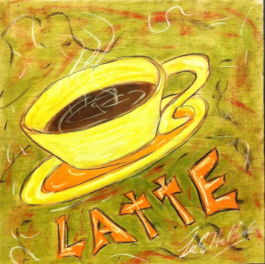 Coffee Painting - Latte by Lee Halbrook