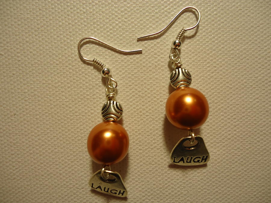 Orange Earrings Photograph - Laugh In Orange by Jenna Green