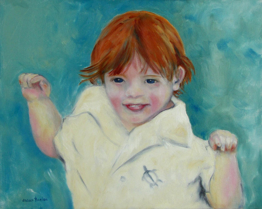 Child Painting - Laughter by Susan Hanlon