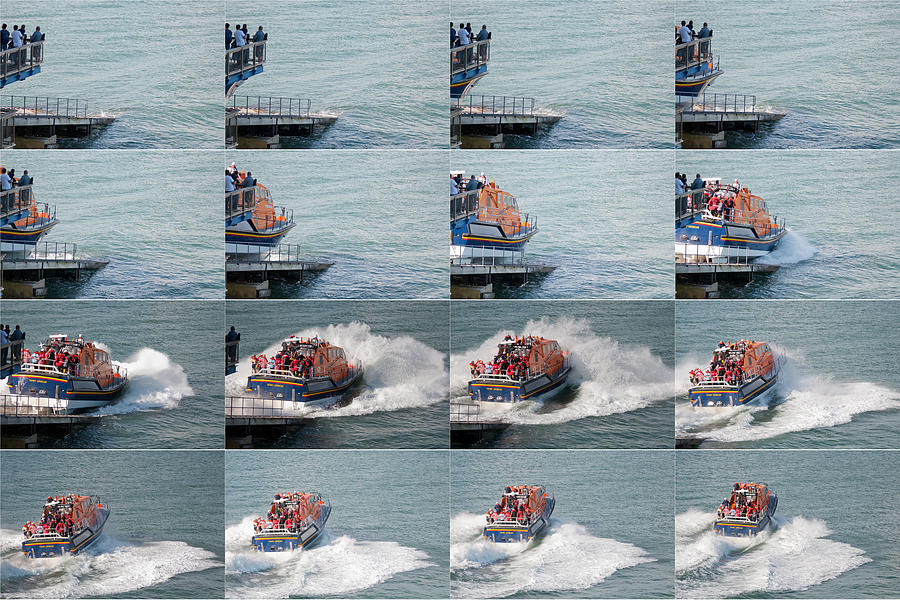 Tenby Photograph - Launching The Lifeboat by Steve Purnell