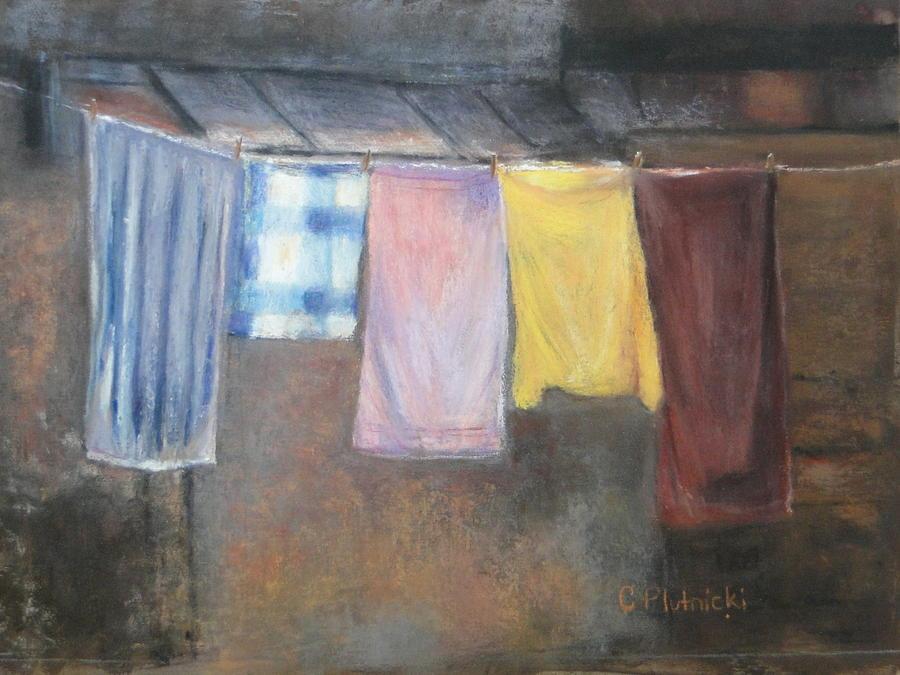 Laundry Pastel - Laundry Day by Cindy Plutnicki