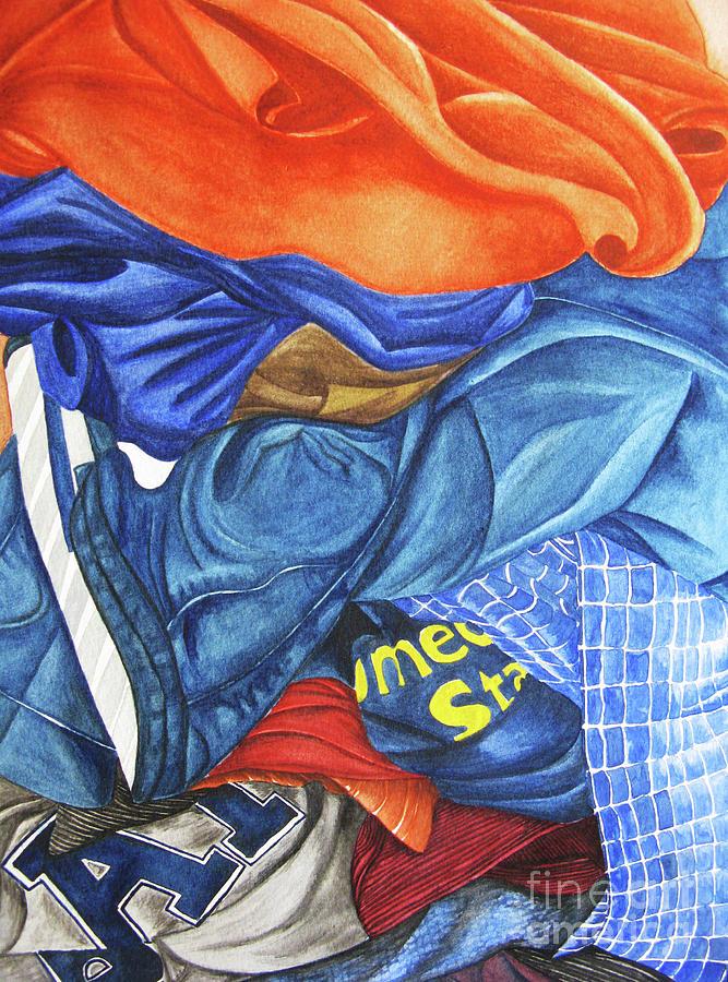 Watercolor Painting - Laundry No1 by Mic DBernardo