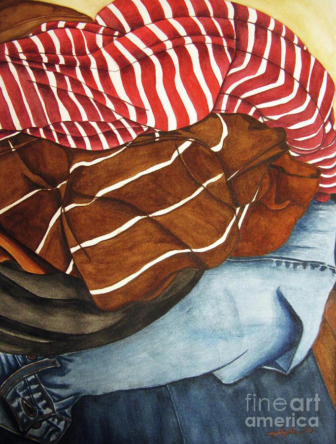 Watercolor Painting - Laundry No3 by Mic DBernardo