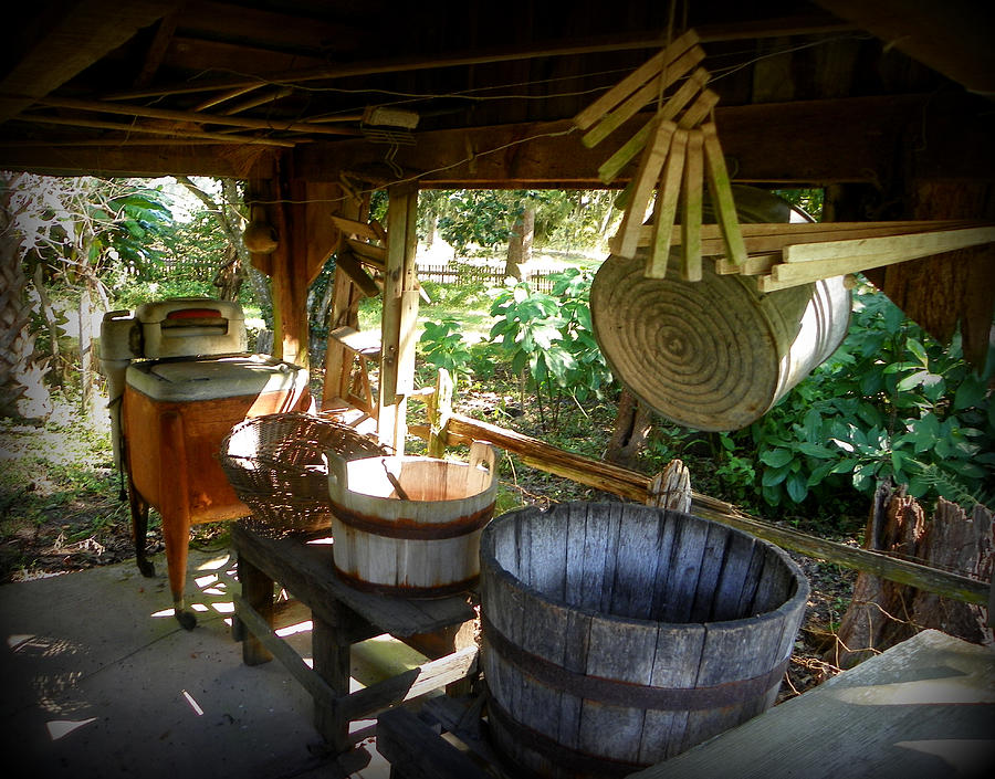Laundry Room Photograph - Laundry Shed I by Sheri McLeroy