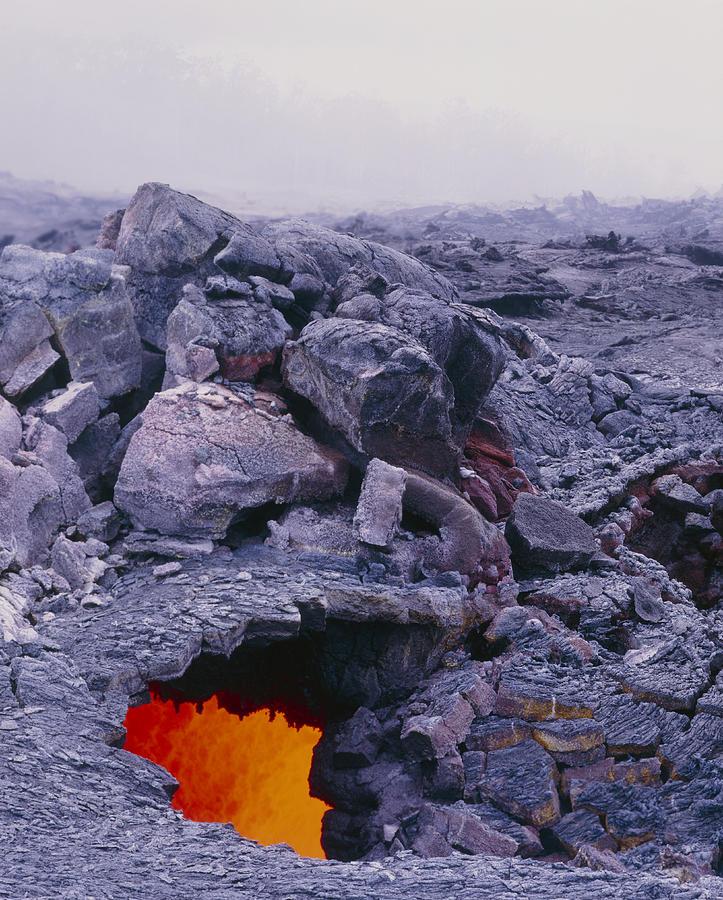 Conduit Photograph - Lava Tube, Kilauea Volcano, Hawaii by G. Brad Lewis