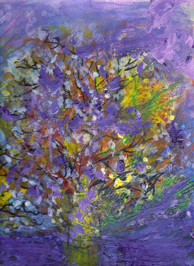 Lavender Painting - Lavender Memories by Anne-Elizabeth Whiteway