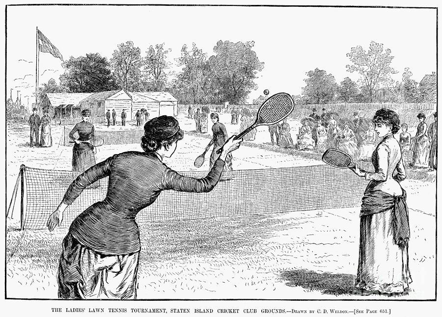 1883 Photograph - Lawn Tennis, 1883 by Granger
