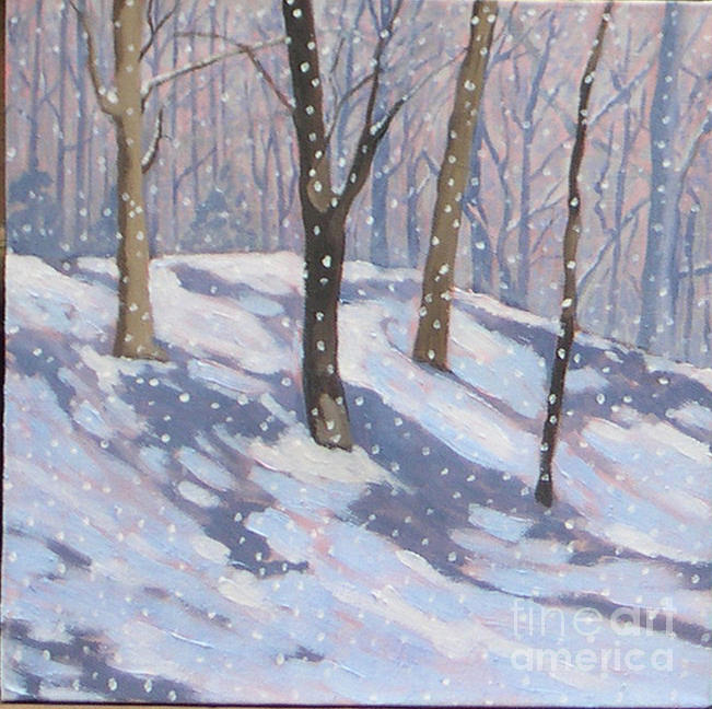 Trees Painting - Lawrence Park Triptych Part 1 by Joan McGivney