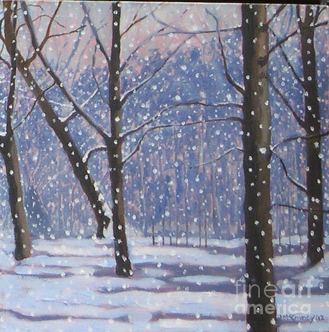 Winter Landscapes Painting - Lawrence Park Triptych Part 3 by Joan McGivney